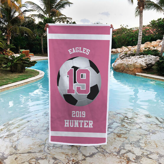 Soccer Premium Beach Towel - Personalized Team