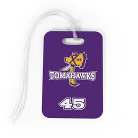 Lacrosse Bag/Luggage Tag - New Hampshire Tomahawks Logo with Number