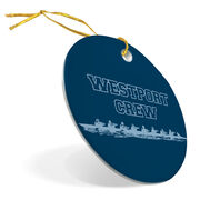 Crew Porcelain Ornament Personalized Rowing Team