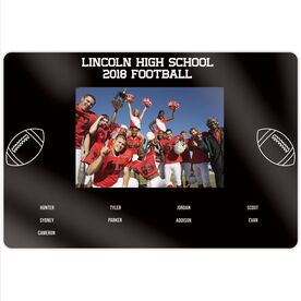"Football 18"" X 12"" Aluminum Room Sign - Team Photo With Roster"