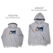 Girls Lacrosse Hooded Sweatshirt - Lula Witch Dog