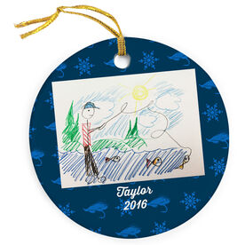 Fly Fishing Porcelain Ornament Your Drawing With Personalization