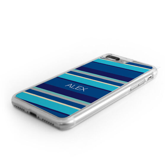 Personalized iPhone® Case - Diagonal Stripes