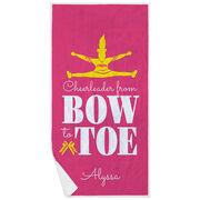 Cheerleading Premium Beach Towel - From Bow to Toe