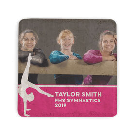 Gymnastics Stone Coaster - Team Photo with Gymnast