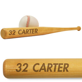 Baseball Mini Engraved Bat Number and Name