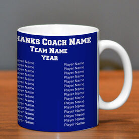 Personalized Coffee Mug Thanks Coach Custom Logo With Team Roster