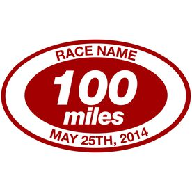 Running Personalized 100 Miles Vinyl Decal