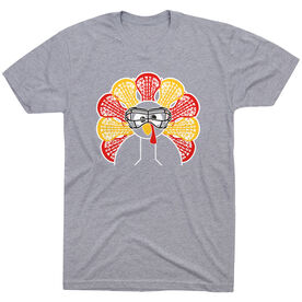 Girls Lacrosse Short Sleeve T-Shirt - Goofy Turkey Player