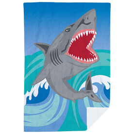 Swimming Premium Blanket - Shark Attack