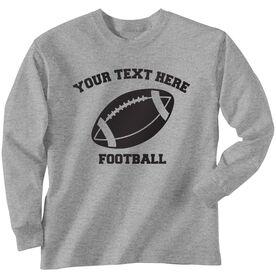 Custom Football T-Shirt Long Sleeve