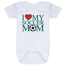 Soccer Baby One-Piece - I Love My Soccer Mom