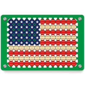 Baseball Metal Wall Art Panel - Flag