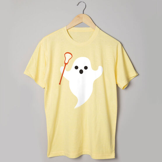 Lacrosse Tshirt Short Sleeve Ghost with Lacrosse Stick
