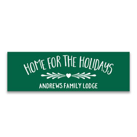 "Personalized 12.5"" X 4"" Removable Wall Tile - Home For The Holidays"