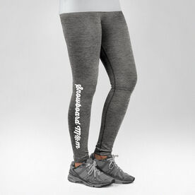 Snowboarding Performance Tights Snowboard Mom with Snowflake
