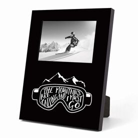 Skiing and Snowboarding Photo Frame - The Mountains Are Calling Goggles