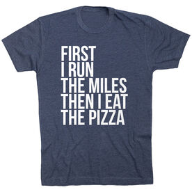 Running Short Sleeve T-Shirt - Then I Eat The Pizza