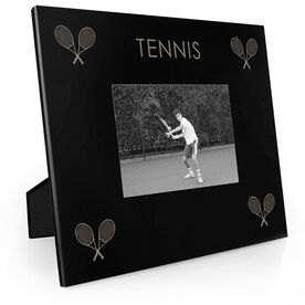 Tennis Engraved Picture Frame - Four Corners
