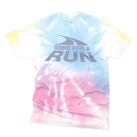 Running Short Sleeve T-Shirt - Gone For A Run Logo Tie-Dye