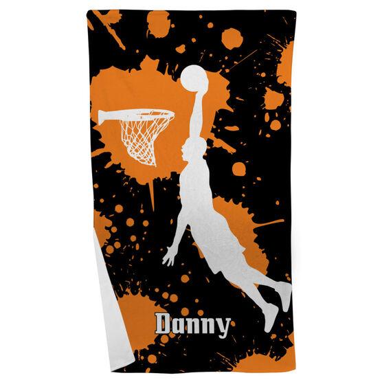 Basketball Beach Towel Slam Dunk