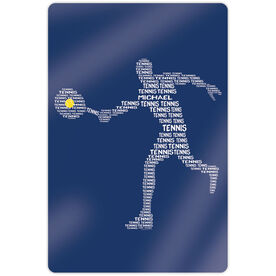 """Tennis 18"""" X 12"""" Aluminum Room Sign - Personalized Tennis Words Guy"""