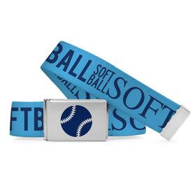 Softball Lifestyle Belt Word Pattern