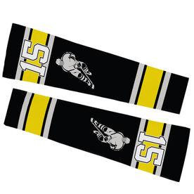 Hockey Printed Arm Sleeves - Personalized Hockey Player Silhouette