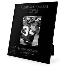 Football Engraved Picture Frame - Quarterback Stats