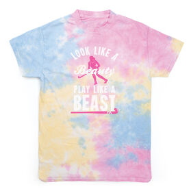 Field Hockey Short Sleeve T-Shirt - Look Like a Beauty Play Like A Beast Tie Dye