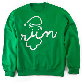 Running Crew Neck Sweatshirt Santa Run Face