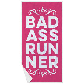 Running Premium Beach Towel - Bad Ass Runner