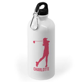 Golf 20 oz. Stainless Steel Water Bottle - Golf Female Player Silhouette