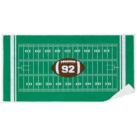 Football Premium Beach Towel - Personalized Field