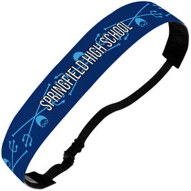 Swimming Julibands No-Slip Headbands - Personalized Crossed Trident Stripe Pattern