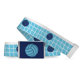 Volleyball Lifestyle Belt Net And Ball Pattern