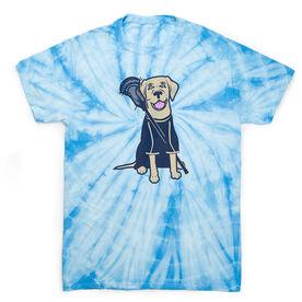 Guys Lacrosse Short Sleeve T-Shirt - Riley The Lacrosse Dog Tie Dye