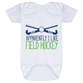Field Hockey Baby One-Piece - Apparently, I Like Field Hockey