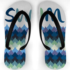 Swimming Flip Flops Waves