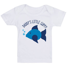 Swimming Baby T-Shirt - Daddy's Litttle Guppy