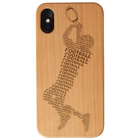 Football Engraved Wood IPhone® Case - Football Words