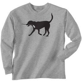 Hockey Tshirt Long Sleeve Howe the Hockey Dog