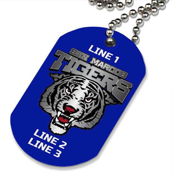 Custom Printed Dog Tag Necklace