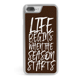 Football iPhone® Case - Life Begins When The Season Starts