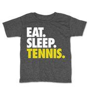 Tennis Toddler Short Sleeve Tee - Eat. Sleep. Tennis.