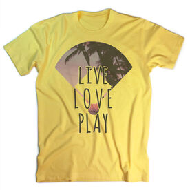 Vintage Softball T-Shirt - Live Love Play