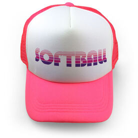 Softball Trucker Hat Retro