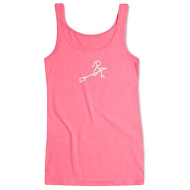 Crew Women's Athletic Tank Top Girl Stick Figure With Word