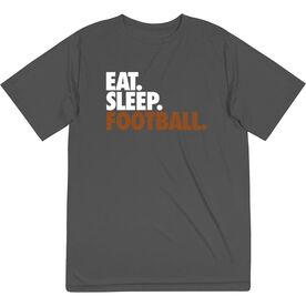 Football Short Sleeve Performance Tee - Eat. Sleep. Football.