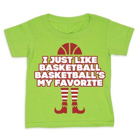 Basketball Toddler Short Sleeve Tee - Basketball's My Favorite